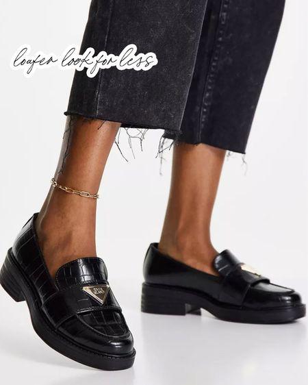 Loafer look for less 🖤   #LTKstyletip #LTKunder100 #LTKshoecrush