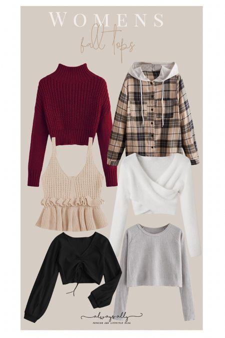 Amazon Fashion. Women's fall tops/sweaters   #LTKunder50 #LTKstyletip #LTKSeasonal