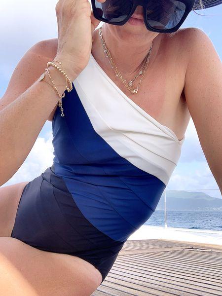 One shoulder one piece http://liketk.it/3jc9p #liketkit @liketoknow.it #LTKunder100 #LTKswim #LTKtravel