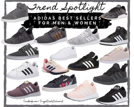 Trend spotlight on these best selling adidas sneakers for men and women! These best running sneakers for spring and summer are hot Amazon deals and Walmart finds! Don't miss out on these best sellers!     Screenshot this pic to get shoppable product details with the LIKEtoKNOW.it shopping app and make sure you follow FrugalDealsDelivered for more ideas and inspiration! http://liketk.it/3arl4  #liketkit @liketoknow.it   #LTKshoecrush #LTKmens #LTKstyletip