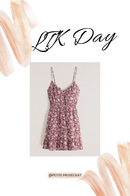 LTK day is here! 20% off at Abercrombie. This summer dress is perfect for all things summer festivals to church picnics I want to live in this dress every day!  You can instantly shop my looks by following me on the LIKEtoKNOW.it shopping app #liketkit @liketoknow.it http://liketk.it/3hkhE