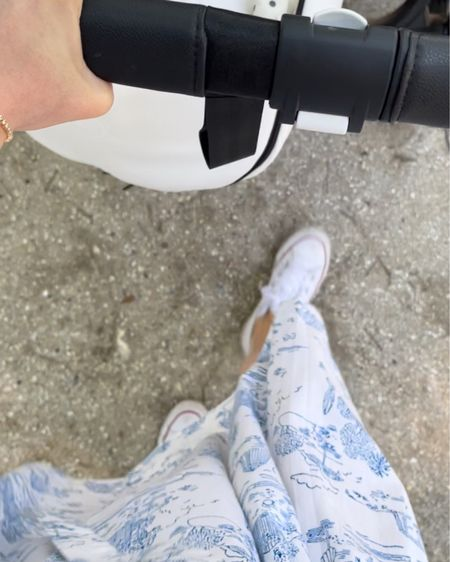 Toile blue and white dresses + white sneakers = my everyday spring look 💙 http://liketk.it/3e6Wj @liketoknow.it #liketkit #LTKstyletip