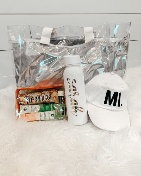 Bachelorette Gift Bags for Northern Michigan! ☀️ The cutest cooler packed with a custom water bottle, energy bars, LiquidIV, Advil, makeup remover, mimosa energy drinks && a white MI hat for the bride and black MI hats for the babes! All hats are from Kiloh&Co! Screenshot this pic to get shoppable product details with the @liketoknow.it shopping app: http://liketk.it/3jt1W #liketkit #LTKunder100 #LTKwedding #LTKtravel