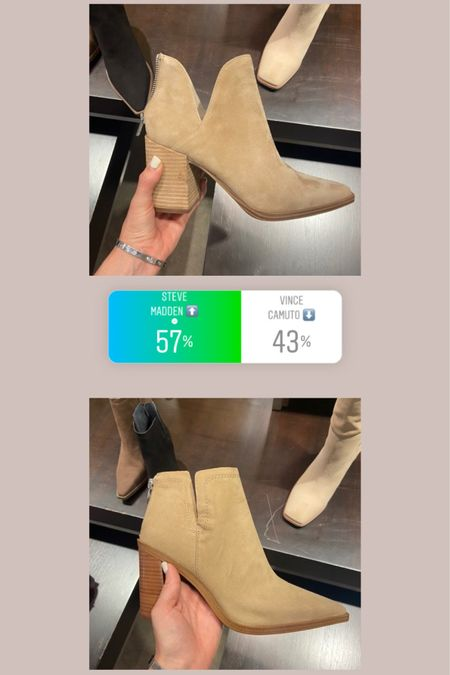 Which bootie do you prefer: Steve Madden vs Vince Camuto? Both are on sale for the Nordstrom Anniversary Sale 🤗 You can instantly shop my looks by following me on the LIKEtoKNOW.it shopping app! http://liketk.it/3k31x #liketkit @liketoknow.it #LTKsalealert #LTKshoecrush #LTKunder100 ltkfall, nsale