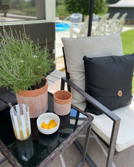 Summer Patio vibes!  Walmart has got you covered for all your Outdoor entertaining!! How cute are these cabana striped tumblers! #ad #walmarthome http://liketk.it/3iCeZ #liketkit @liketoknow.it #LTKunder50 #LTKhome #LTKstyletip @liketoknow.it.home @liketoknow.it.family