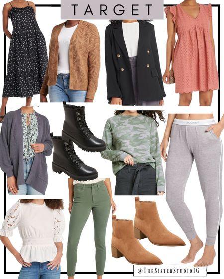 Target New Arrivals 😍  Cardigans, pants, teacher outfit ideas, booties, combat boots, blazer, white blouse, vacation maxi dress.     #LTKunder50 #LTKstyletip #LTKworkwear