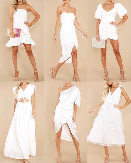 White dresses for the brides! Most under $50, all under $100.   #LTKunder100 #LTKwedding #LTKSeasonal