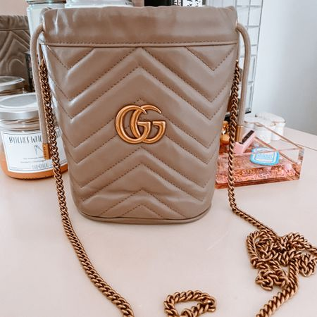 In love with my pre-loved/new to me Gucci Marmont Bucket Bag… perfect for a night out or just running errands!   #LTKwedding #LTKitbag #LTKstyletip
