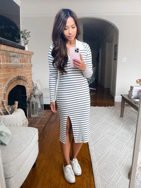Love the polo dress trend 😍 this one is TTS and I'm wearing XS petite length