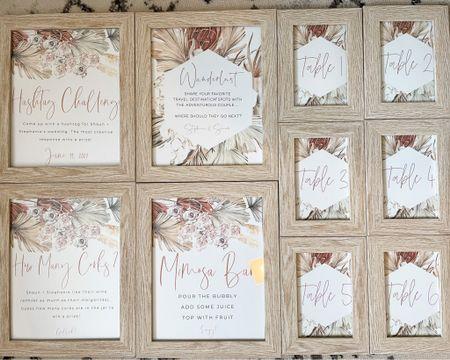 Boho Bridal Shower Wedding Table Signs and Place Cards and wood frames   http://liketk.it/3cmh2 #liketkit @liketoknow.it @liketoknow.it.brasil @liketoknow.it.family @liketoknow.it.europe @liketoknow.it.home #LTKwedding #LTKhome #LTKsalealert