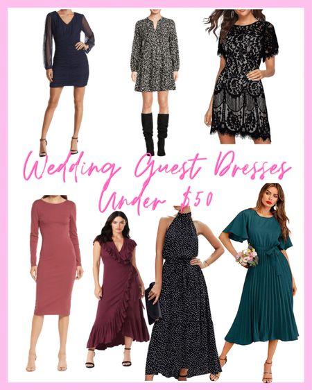 Fall wedding guest dresses under $50!   #LTKSeasonal #LTKwedding #LTKunder50