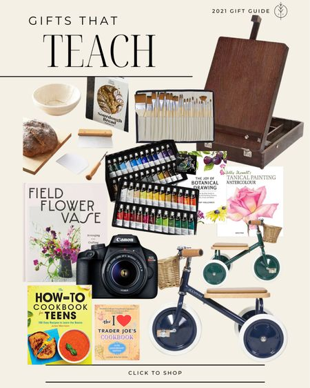Gifts for teaching and creativity🌲 kids bicycle, camera, painting, fun cookbooks, bread making kit and more  #LTKkids #LTKfamily #LTKGiftGuide