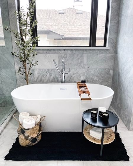 Ready to get in the bath right about now! Pouring a glass of wine and ready to hit the sack! Linking some of my @amazonhome favorites in this post because they are the BEST! This bath mat is LIFE! @liketoknow.it http://liketk.it/3ifBA #liketkit #LTKunder100 #LTKstyletip #LTKhome