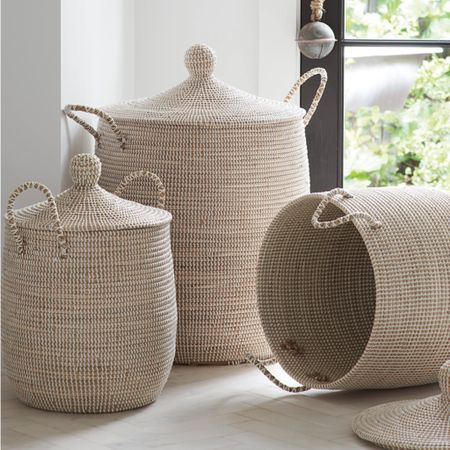 How cute are these baskets ?! They seem to fit so much! Perfect storage for blankets, workout equipment, pet toys or items , extra pillows, etc.  put in your email for 15% off your order ! #liketkit #LTKhome #LTKSpringSale #LTKunder100 @liketoknow.it @liketoknow.it.family @liketoknow.it.home http://liketk.it/3byTx Shop your screenshot of this pic with the LIKEtoKNOW.it shopping app