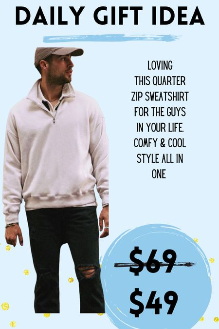 This half zip from Abercrombie is a great gift idea for any guy!   #LTKGiftGuide