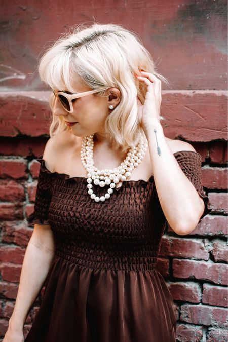 Pearl necklace and studs from J. Crew Factory.   #LTKsalealert #LTKunder50 #LTKstyletip