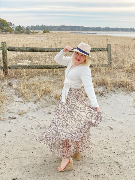 Animal print is the new neutral!   Obsessed with this maxi skirt from Amazon. It is the perfect seasonal transitional piece. Fit is tts.  #LTKbacktoschool #LTKSeasonal #LTKworkwear