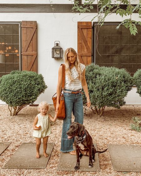 You can't beat babies + puppies ! Bag by Hobo Original & my jeans are a few years old from mango so I linked to the closest I could find! :)  http://liketk.it/2EJKo #liketkit @liketoknow.it