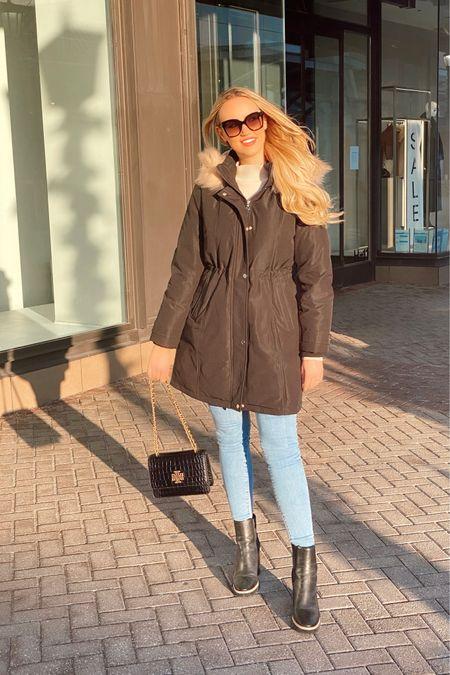 | coat, boots, winter boots, jeans, crossbody, Tory Burch, Kate Spade, Levi's |  #LTKNewYear
