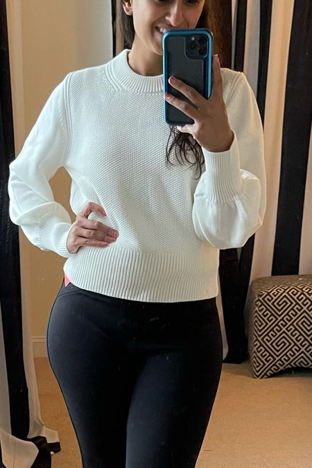 Nordstrom Anniversary Sale! Size: small This sweater is thicccc. It's great quality and I highlight recommend it. For me, the sleeves may be slightly long but I will be attempting to fold them a bit.   #LTKunder100