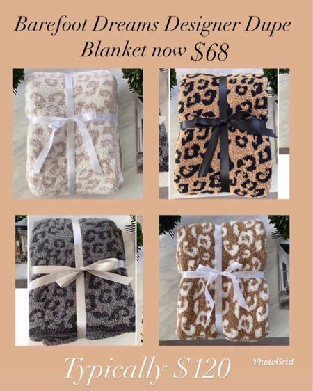 The Barefoot dreams dupe blanket is now $68 during the LTK Day Sale    #LTKhome #LTKsalealert #LTKunder100 #liketkit http://liketk.it/3hxh4 @liketoknow.it    Hermès dupe blanket Cozy blankets  Gifts for mom  Gifts for sister in law  Hostess gift  Housewarming gift  Barefoot dreams dupe  Hermès  Hermès dupe blanket  Home decor  Leopard blanket