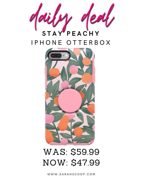 Save 20% on this OtterBox + Pop for iPhone! Called Stay Peachy it's slim, protective and integrated into one to complement your style!🍑💗 #dailydeals #savetoday #targetdeals #iphone #iphonecase #otterbox #popsocket #dealstoday #save #deals   #LTKstyletip #LTKunder50 #LTKsalealert