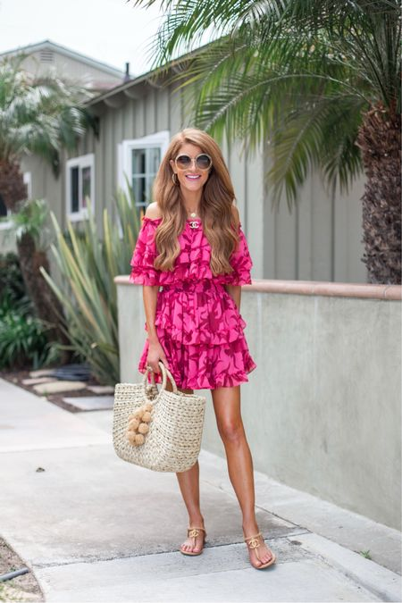 This fave from last year is back and it's just the most fun lil number! Perfect for a beachy getaway, a girls night, a Summer soiree, cocktails with your boo...all the things! Love the off shoulder- so feminine 💗💗 hope you guys have a great Thurs and you can grab this dress by shopping my @liketoknow.it shop. Link in my bio 🙌🏻 http://liketk.it/3gKbI #liketkit #LTKtravel #LTKitbag #LTKunder100   #misamuse