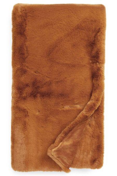 Faux fur throw blanket | Anthropologie throw blanket | home decor | nsale | Nordstrom sale #LTKsalealert #LTKunder100 #LTKhome @liketoknow.it #liketkit http://liketk.it/2VxZO