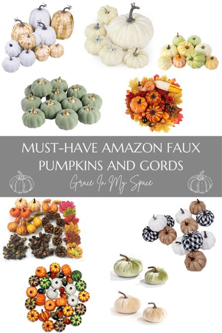 Must have faux pumpkins and cords for this fall season!   #LTKhome #LTKSeasonal