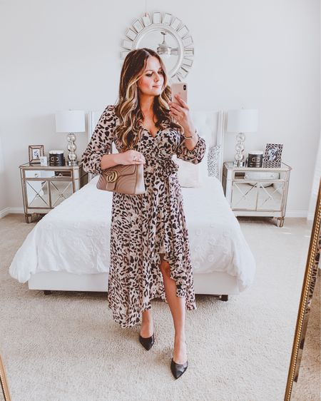 { longing for spring with this flowy high-low number 🐆👗 shop this breezy animal-print faux wrap dress 👉🏻 http://liketk.it/2LjXH #liketkit @liketoknow.it #LTKworkwear #LTKspring #LTKstyletip }
