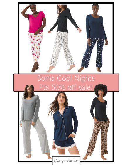 My favorite PJ sets are on sale! Shop Soma's cool nights pj sets that are 50% off!   #LTKGiftGuide #LTKsalealert #LTKunder50