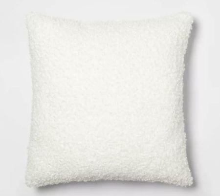 White throw pillow, Threshold throw pillow    #LTKsalealert #LTKunder100 #LTKhome