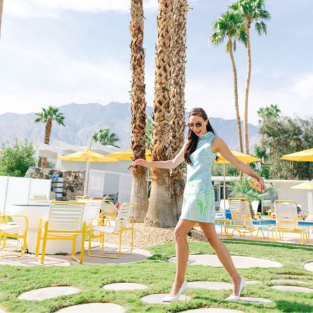 I can't wait to share this very Instagram-worthy spot in Palm Springs. 🌴 It's been almost a decade since I've been here and the weather could not be any more perfect for a special weekend. 🎂 These little cement circles are original from the 60s! And my Lilly dress certainly fit the vibes 🌟More to come! Have a wonderful week ahead loves 💋✨ Shop this look via @liketoknow.it http://liketk.it/2ykhJ  #liketkit