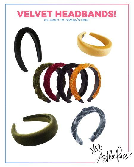 Velvet headbands   #LTKSeasonal #LTKstyletip
