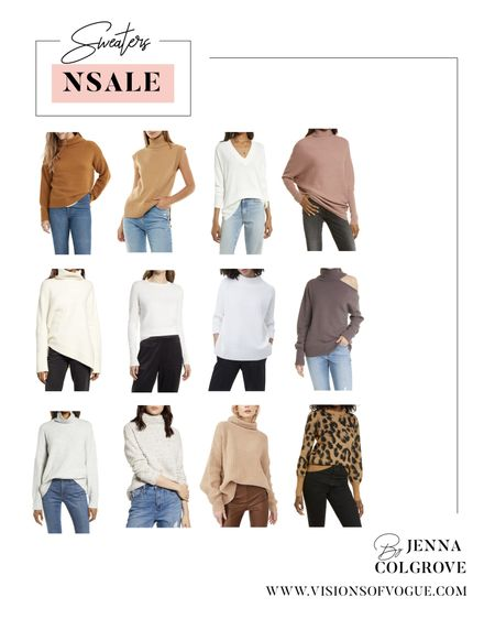 My favorite pullover sweaters from the Nordstrom Anniversary Sale (NSALE)! I always love the Free People ones (size down) and the Treasure and Bond v-neck sweater!   #LTKunder50 #LTKunder100 #LTKsalealert