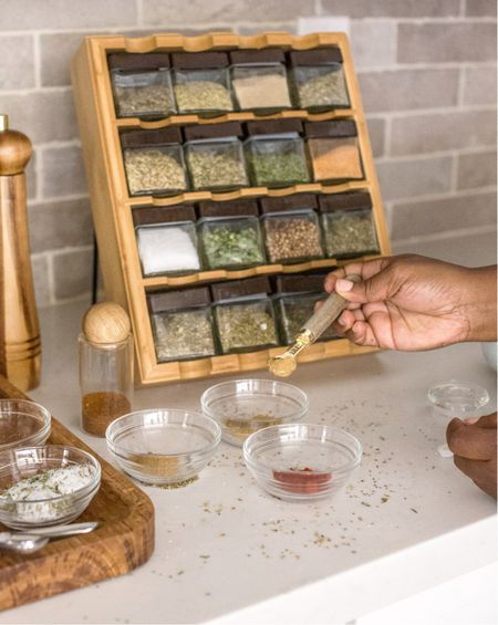 Whether you make your own spices or buy them from the store, this spice rack will look amazing in your kitchen!  #fall #autumn #kitchen #thanksgiving #baking #spices #diy  #LTKSeasonal #LTKhome #LTKfamily