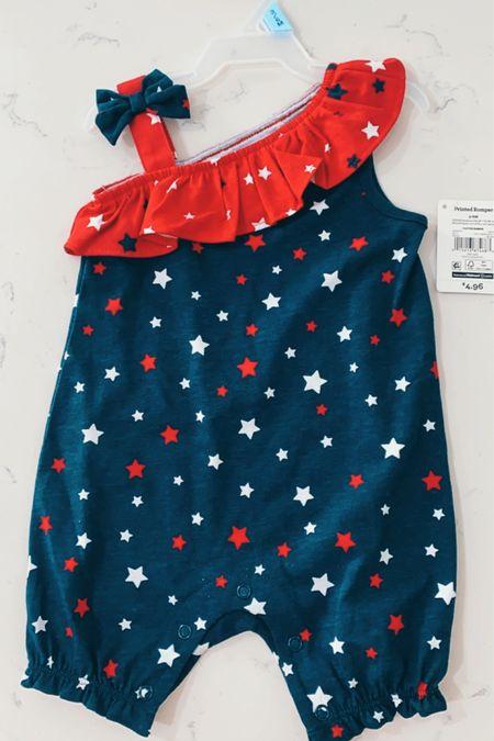 http://liketk.it/3fTIr #liketkit @liketoknow.it  Fourth of July Fourth of July baby outfit 4th of July baby clothes Memorial Day baby clothes Walmart fashion  #LTKbaby #LTKfamily #LTKkids