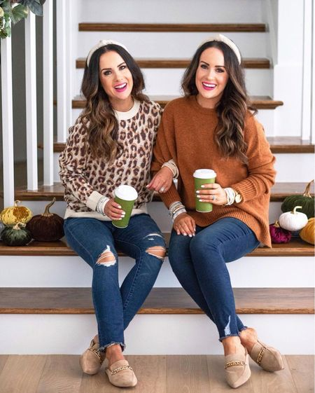 Hooray! It's officially fall! We are so excited for the cooler weather and cozy layers! What are your favorite things about fall? 🍂 We also wanted to share our fave bracelets are on promo today! We've linked 10+ styles that are included. These under $25 distressed jeans are amazing too {we get the ankle length and we're 5'5 and 5'6 for reference}. Shop it all via the LTK app. Or head to our blog and click the Shop Our IG tab.   #LTKunder50 #LTKsalealert #LTKshoecrush