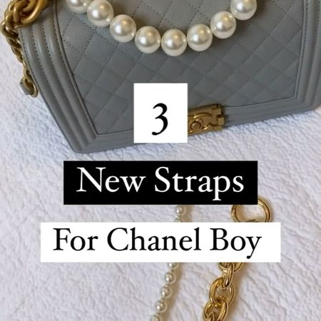 The classic Chanel boy bag styled with some extra pearls and chain 🙌   Elevate your Chanel bags look with these stunning additional chains. This is my grey old medium boy bag.   #ChanelBag #Chanel #ChanelBoyBag  #LTKDay #LTKstyletip