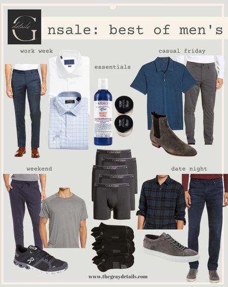 Outfit your man for the week with my Nordstrom anniversary picks / men's workwear / men's date night / men's active / men's shoes / men's boots / men's essentials/ #nsale   #LTKmens #LTKfamily #LTKstyletip