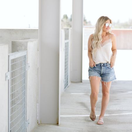 The perfect summer look ✨  Beach Style // Travel Look //  Summer Fashion  I love how simple this look is. Make sure to size up in the Moussy shorts several sizes for a relaxed fit.    http://liketk.it/3fYmz #liketkit #LTKshoecrush #LTKstyletip #LTKtravel @liketoknow.it    You can instantly shop all of my looks by following me on the LIKEtoKNOW.it shopping app