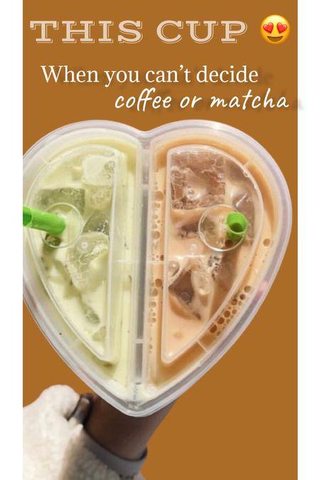 Cutest double drink heart cup! On Amazon   #LTKtravel #LTKunder50 #LTKfit