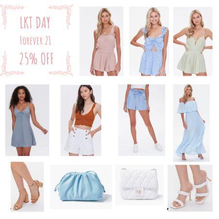 Forever 21 25% off last day  It's the last day of the LKTDAY sales don't miss out   Rompers  Playsuits  Bags Sandals  Shorts  Dresses   #lktit #sale #forever21   #LTKsalealert #LTKstyletip #LTKunder100