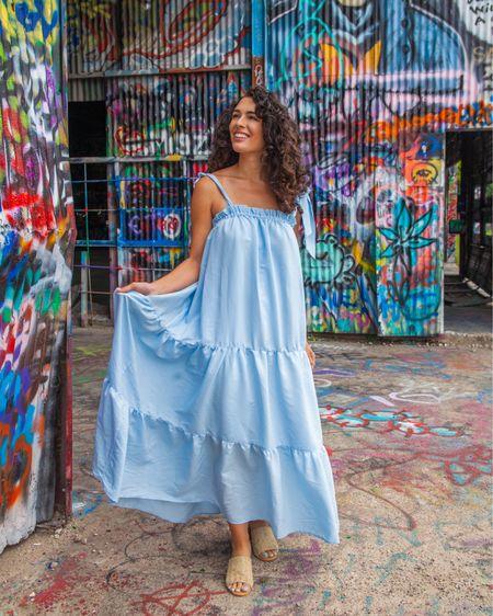 http://liketk.it/3fkgG #liketkit @liketoknow.it #LTKunder100 #LTKunder50 #LTKshoecrush blue maxi dress dresses shop red dress summer outfit heels pumps