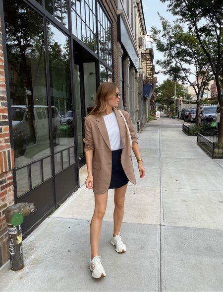 H & M oversized beige blazer, wearing a size small   #LTKshoecrush #LTKSeasonal