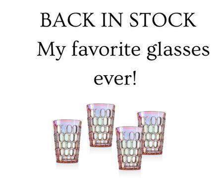 My favorite drink ware set is back in stock. http://liketk.it/3e3GP #liketkit @liketoknow.it #LTKhome #backinstock  Glasses, home, drink ware, glass cups, holographic cups, Nordstrom finds