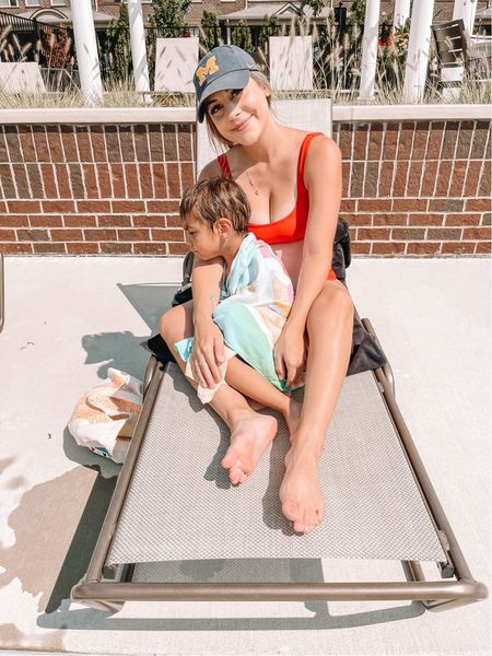Soaking up all the pool days while we can! Is it still hot where you are? We didn't have a very warm July but August is definitely living up to my Summer expectations ☀️      #LTKbump #LTKunder50 #LTKswim
