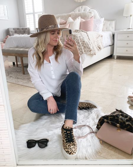 Another favorite top from the sale! Perfect for layering this fall 💗 and cute sale accessories. LOVE these leopard sneakers (they fit tts!)  @liketoknow.it http://liketk.it/2DjoR #liketkit #LTKitbag #LTKsalealert #LTKshoecrush #LTKspring #LTKunder50 #LTKunder100 #LTKstyletip #LTKfall #nsale