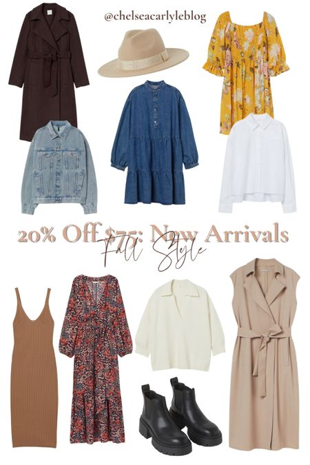 Shop fall style must-haves on sale! 20% off $75 + free shipping with code 4763  I rounded up my favorite finds on sale - from fall sweaters to mom jeans to denim shirt dresses and must-have fall boots.  | fall outfit | outfit inspiration | affordable style | affordable oufits | affordable denim | jeans | denim dress | fall dress | fall wedding guest dress | trench coat | coat | jacket | neutral style | sweaters | knits | boots | Chelsea boots | button down | fall layers | hm | h&m |     #LTKSeasonal #LTKbacktoschool #LTKsalealert