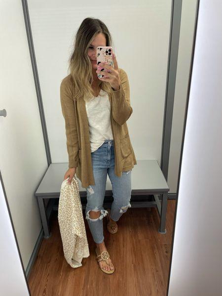 The cutest cardigan from Walmart and Abercombie jeans #walmart #walmartfashion #walmartfinds #casualstyle #denim #jeans #cardigan   #LTKsalealert #LTKunder50 #LTKunder100